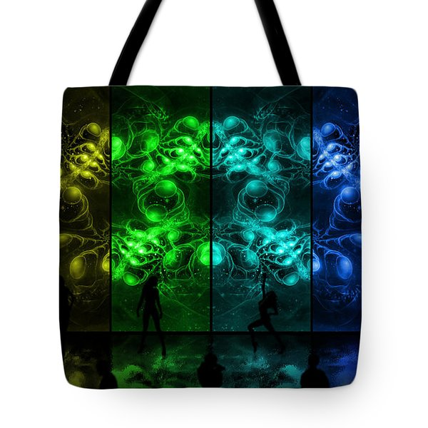 Cosmic Alien Vixens Pride Tote Bag by Shawn Dall
