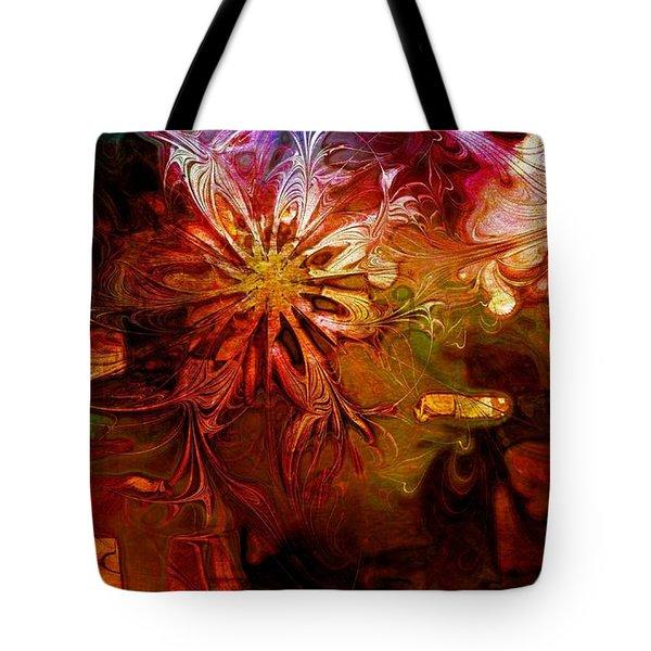 Cosmic Bloom Tote Bag by Amanda Moore