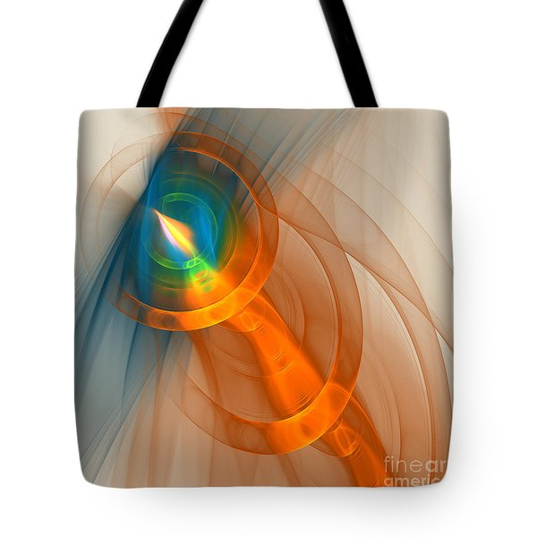Tote Bag featuring the digital art Cosmic Candle by Victoria Harrington