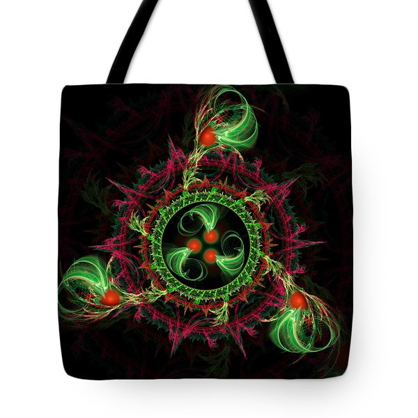 Tote Bag featuring the digital art Cosmic Cherry Pie by Shawn Dall
