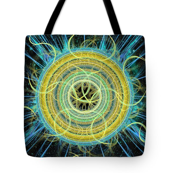 Cosmic Circle Fusion Tote Bag by Shawn Dall