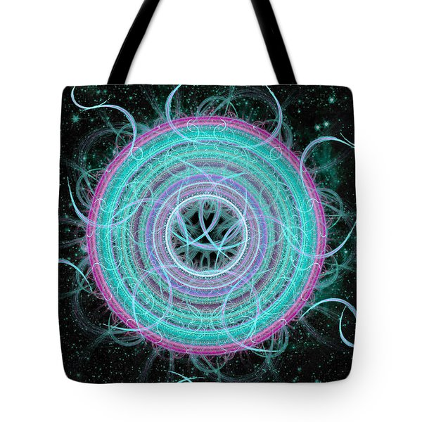 Cosmic Circle Tote Bag by Shawn Dall