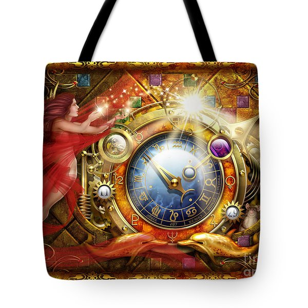 Cosmic Clock Tote Bag by Ciro Marchetti