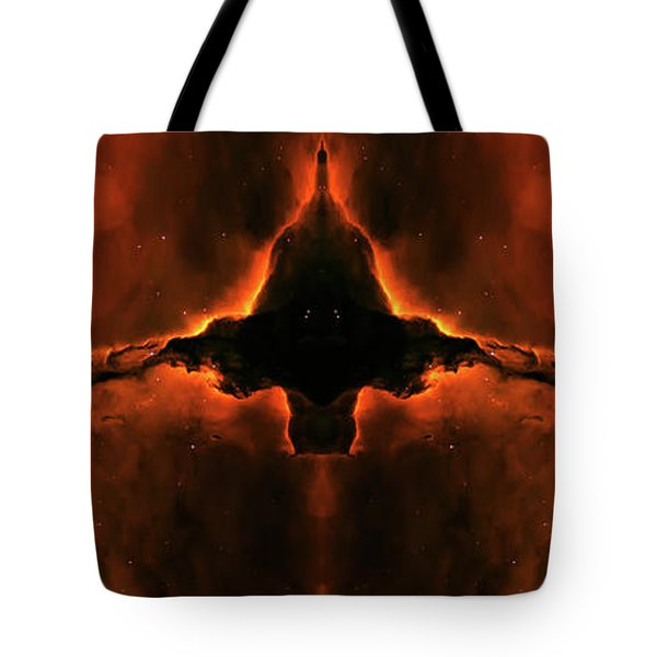 Cosmic Fire Fish Tote Bag by Jennifer Rondinelli Reilly - Fine Art Photography