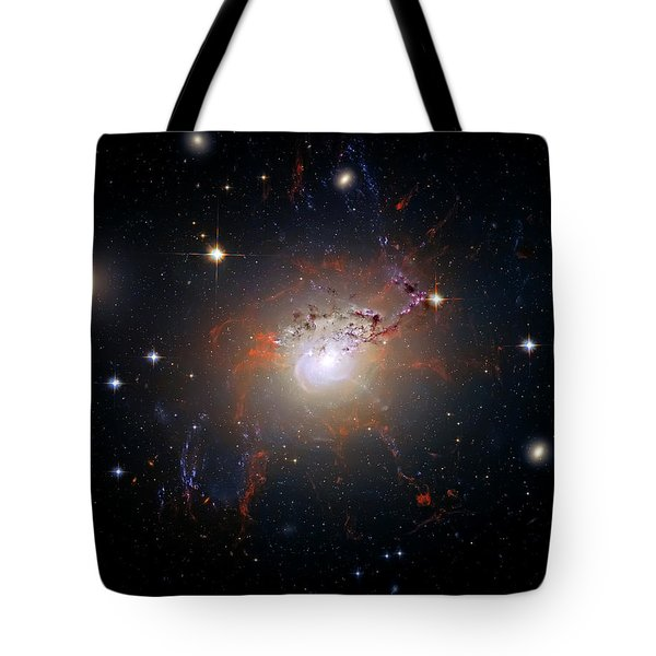 Cosmic Fireworks Tote Bag by Jennifer Rondinelli Reilly - Fine Art Photography