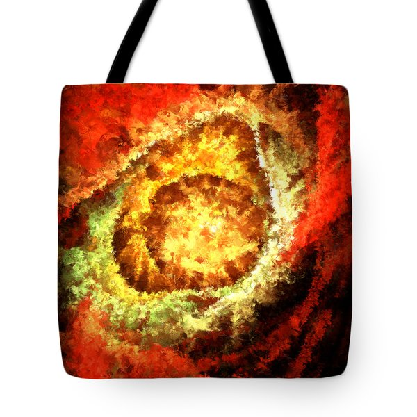 Cosmic Flares Tote Bag by Lourry Legarde