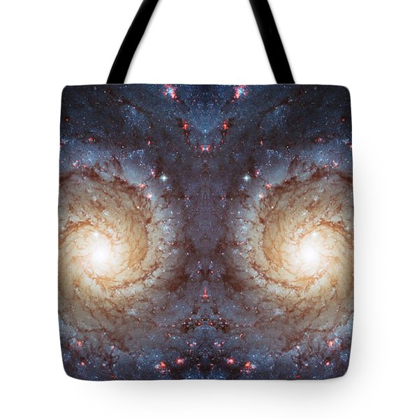 Cosmic Galaxy Reflection Tote Bag by Jennifer Rondinelli Reilly - Fine Art Photography
