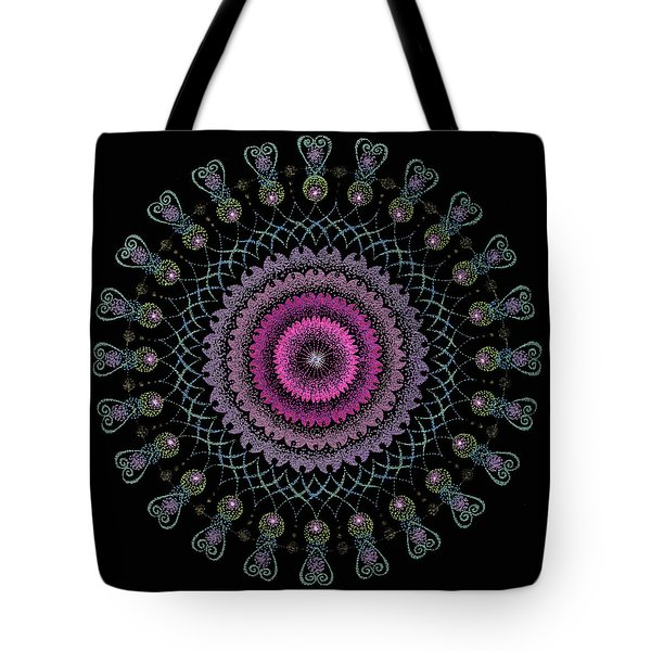 Tote Bag featuring the painting Cosmic Hug by Keiko Katsuta