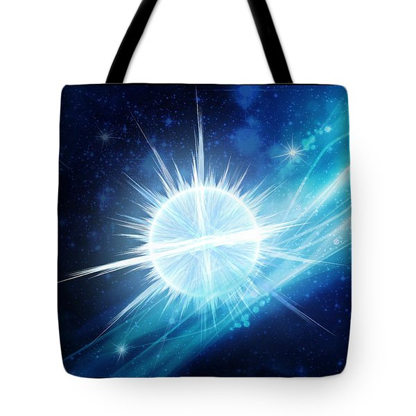 Tote Bag featuring the digital art Cosmic Icestream by Shawn Dall