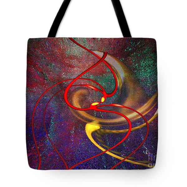Cosmic Kiss Tote Bag by Cedric Hampton