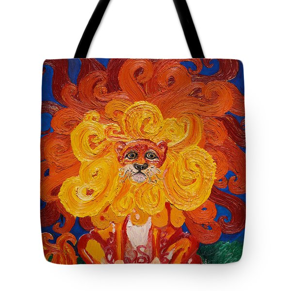 Cosmic Lion Tote Bag