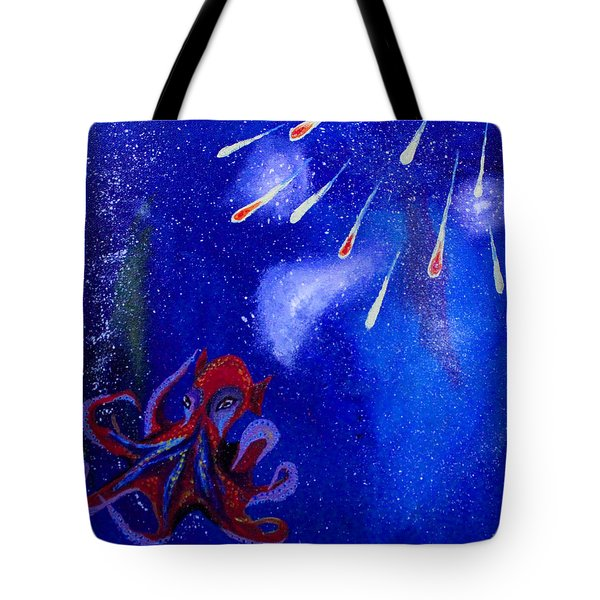 Cosmic Octopus Tote Bag by Andy Lawless