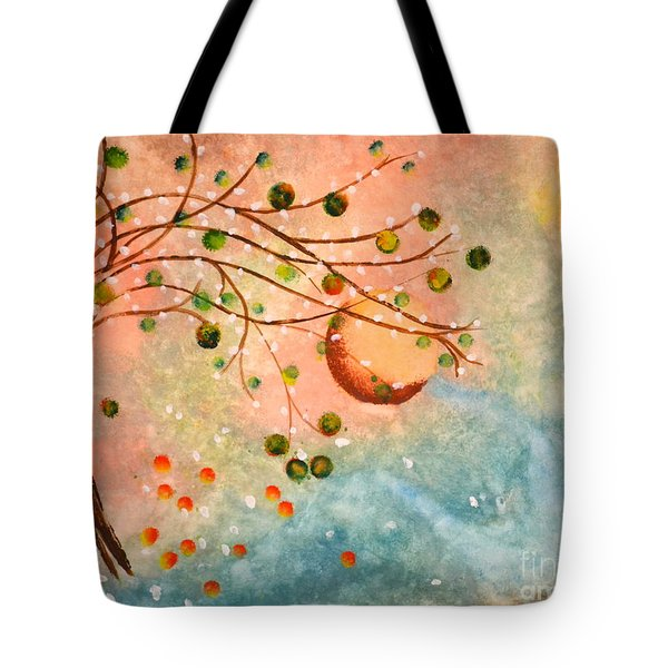 Cosmic Orb Tree Tote Bag