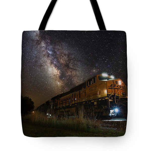 Cosmic Railroad Tote Bag
