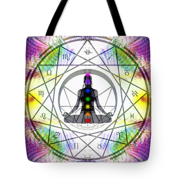 Cosmic Spiral Ascension 14 Tote Bag by Derek Gedney