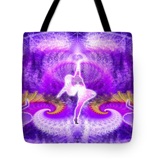 Cosmic Spiral Ascension 27 Tote Bag by Derek Gedney