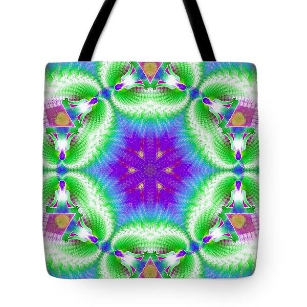 Cosmic Spiral Kaleidoscope 10 Tote Bag by Derek Gedney