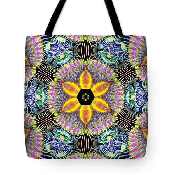 Cosmic Spiral Kaleidoscope 13 Tote Bag by Derek Gedney
