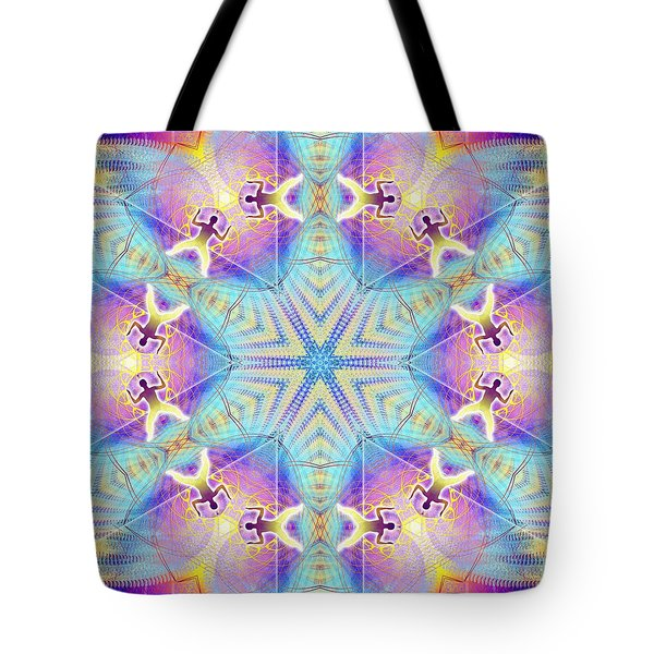 Cosmic Spiral Kaleidoscope 17 Tote Bag