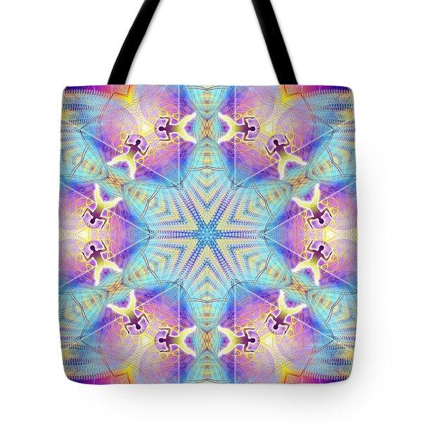Cosmic Spiral Kaleidoscope 17 Tote Bag by Derek Gedney