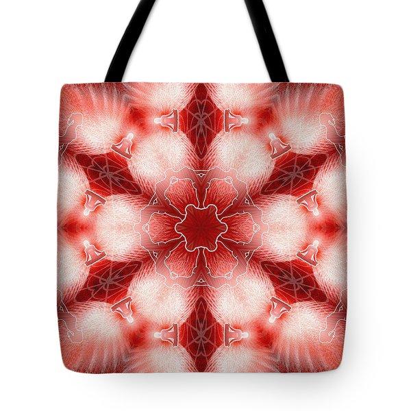 Cosmic Spiral Kaleidoscope 22 Tote Bag by Derek Gedney