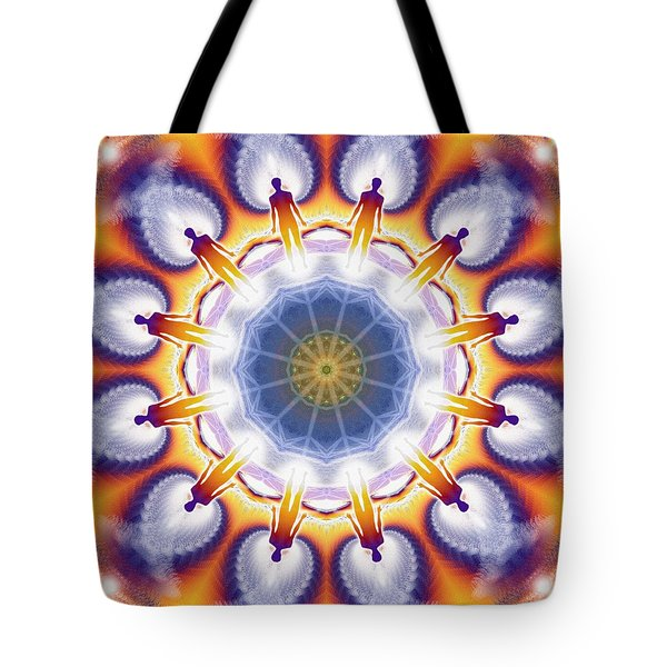 Cosmic Spiral Kaleidoscope 34 Tote Bag