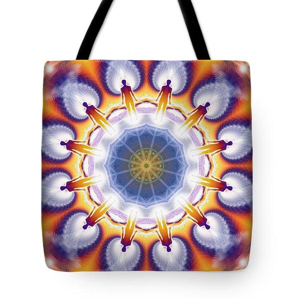 Cosmic Spiral Kaleidoscope 34 Tote Bag by Derek Gedney