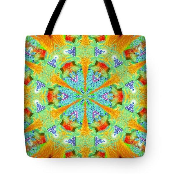 Cosmic Spiral Kaleidoscope 41 Tote Bag by Derek Gedney