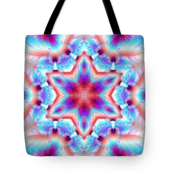Cosmic Spiral Kaleidoscope 45 Tote Bag by Derek Gedney