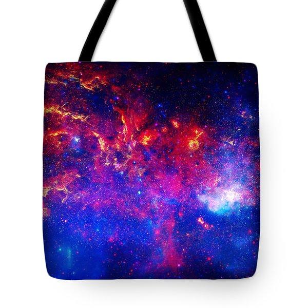 Cosmic Storm In The Milky Way Tote Bag