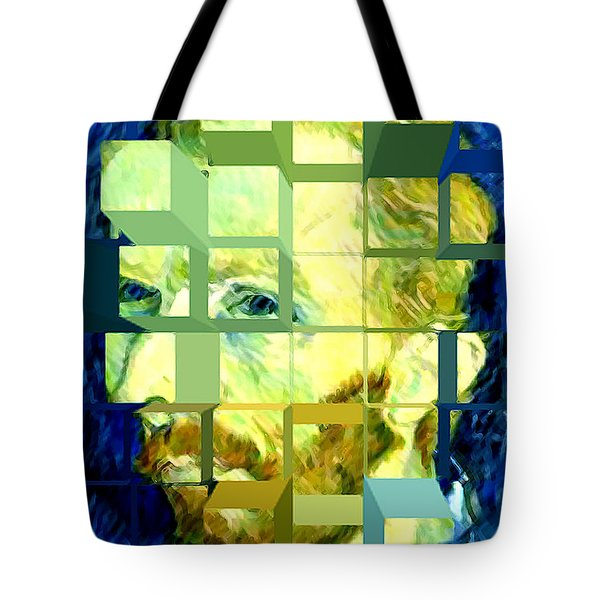 Cosmic Van Gogh Portrait Tote Bag by Jerome Stumphauzer