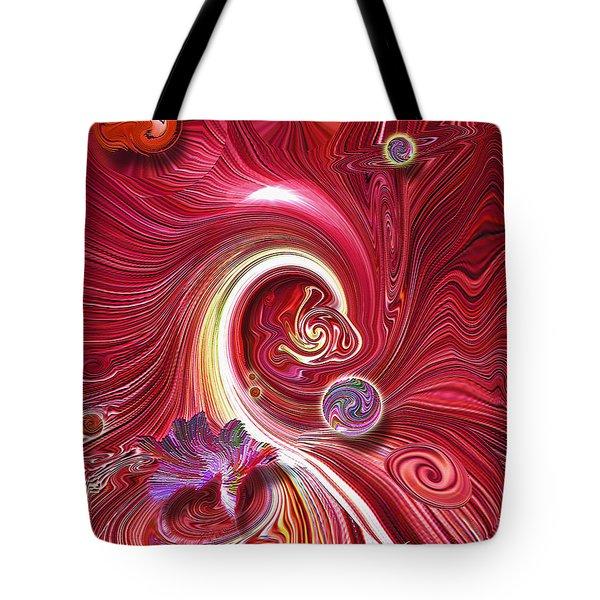 Cosmic Waves Tote Bag