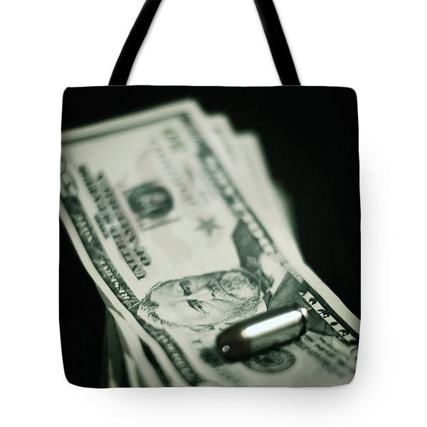 Cost Of One Bullet Tote Bag by Trish Mistric