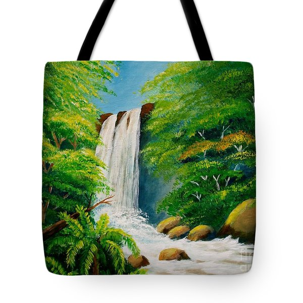 Costa Rica Waterfall Tote Bag