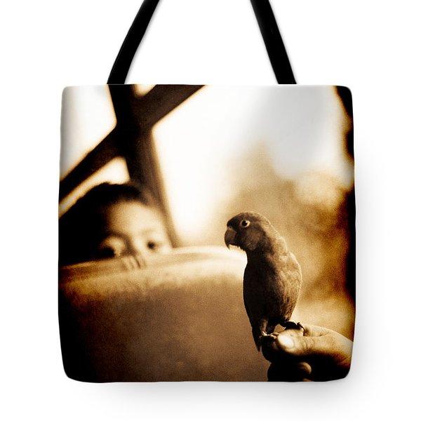 Costa Rican Bird Boy Tote Bag
