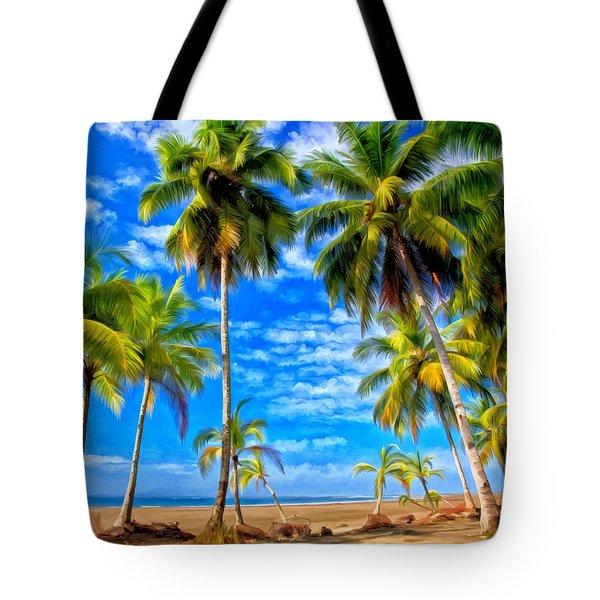 Tote Bag featuring the painting Costa Rican Paradise by Michael Pickett