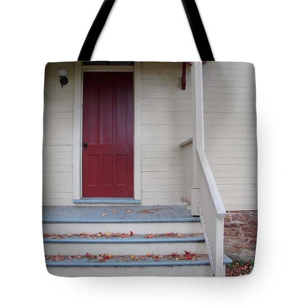 Cozy Cottage Door Tote Bag