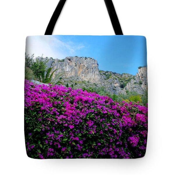 Cote D'azur Purple And Blue Tote Bag