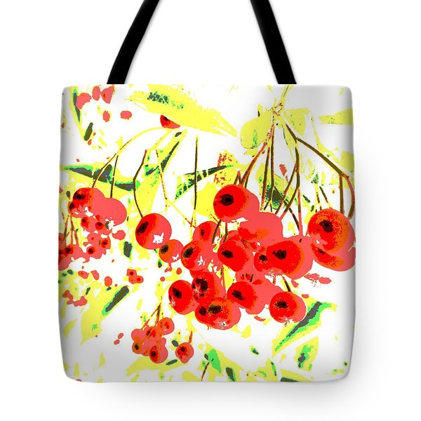Tote Bag featuring the photograph Cotoneaster by Barbara Moignard