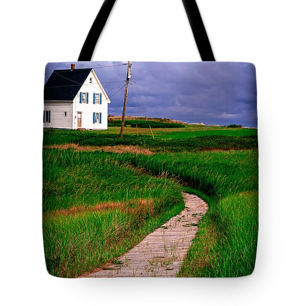 Cottage Among The Dunes Tote Bag