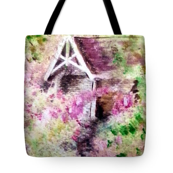Cottage Among The Trees Tote Bag