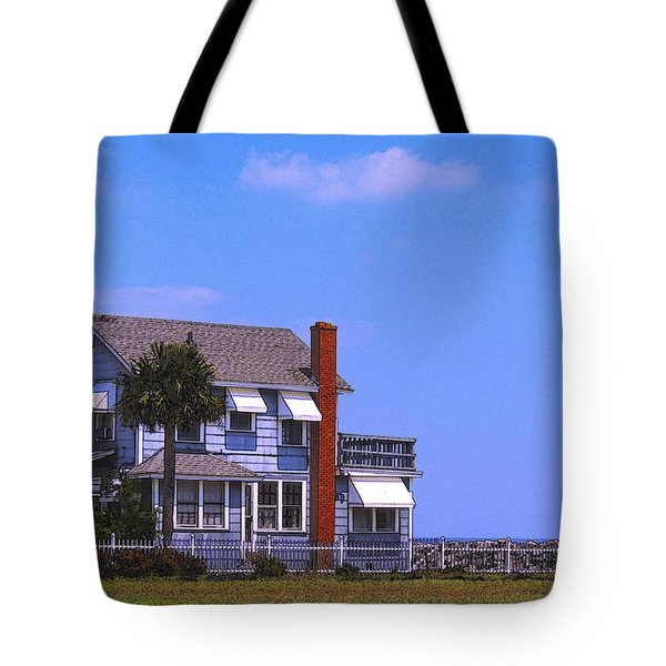 Tote Bag featuring the photograph Cottage Blue by Laura Ragland
