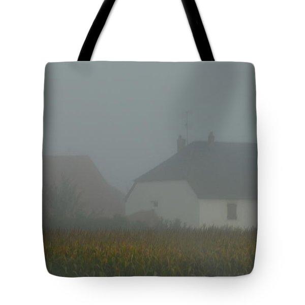 Cottage In Mist Tote Bag