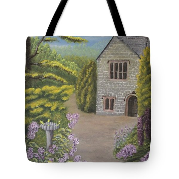 Cottage In The Woods Tote Bag by Lou Magoncia