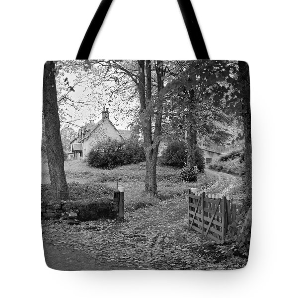 Tote Bag featuring the photograph Cottage On Loch Ness - Scotland 1972 - Travel Photography By David Perry Lawrence by David Perry Lawrence