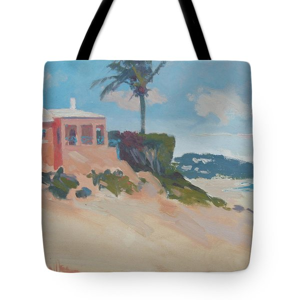 Cottage On The Water Tote Bag by Dianne Panarelli Miller
