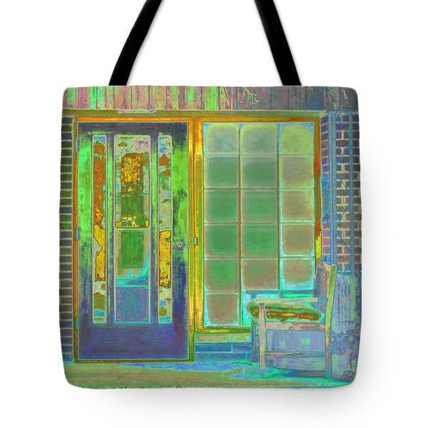 Tote Bag featuring the photograph Cottage Porch by Don and Judi Hall