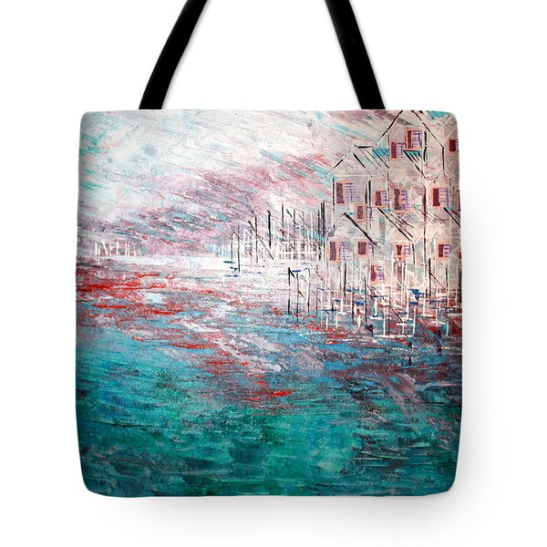 Cottages On The Bay  Tote Bag