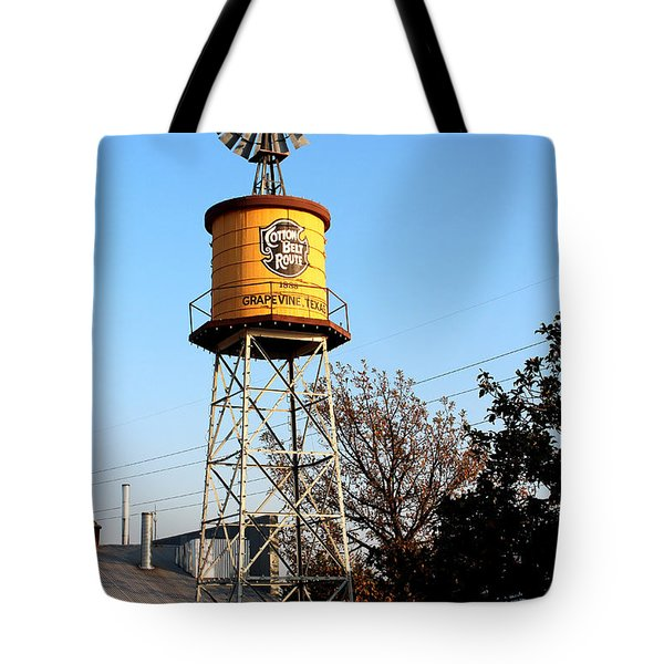 Cotton Belt Route Water Tower In Grapevine Tote Bag