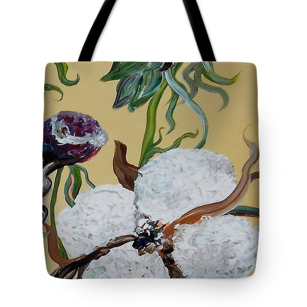 Cotton Boll Solo Tote Bag by Eloise Schneider